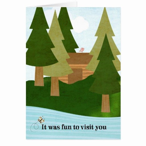 Hospitality Thank You Notes Elegant Cabin Lake Visit Thank You for Hospitality Stationery Note