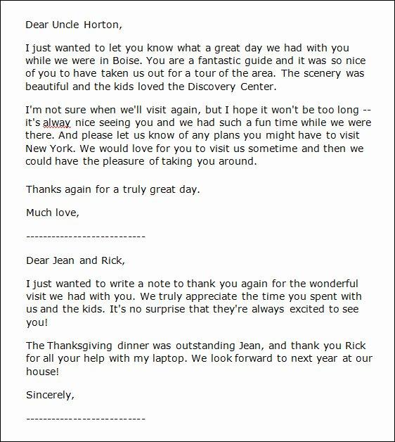 Hospitality Thank You Notes Elegant Sample Thank You Notes