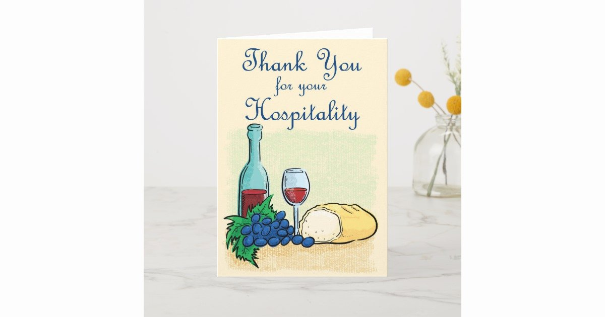 Hospitality Thank You Notes Lovely Thank You for Hospitality Free Hospitality Thank You Note
