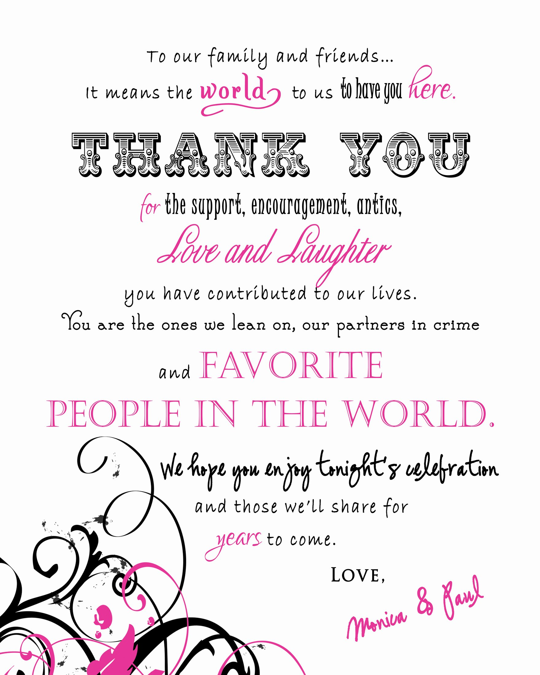 Hospitality Thank You Notes Luxury Stationery Ideas for Your Wedding Day – Las Vegas Wedding