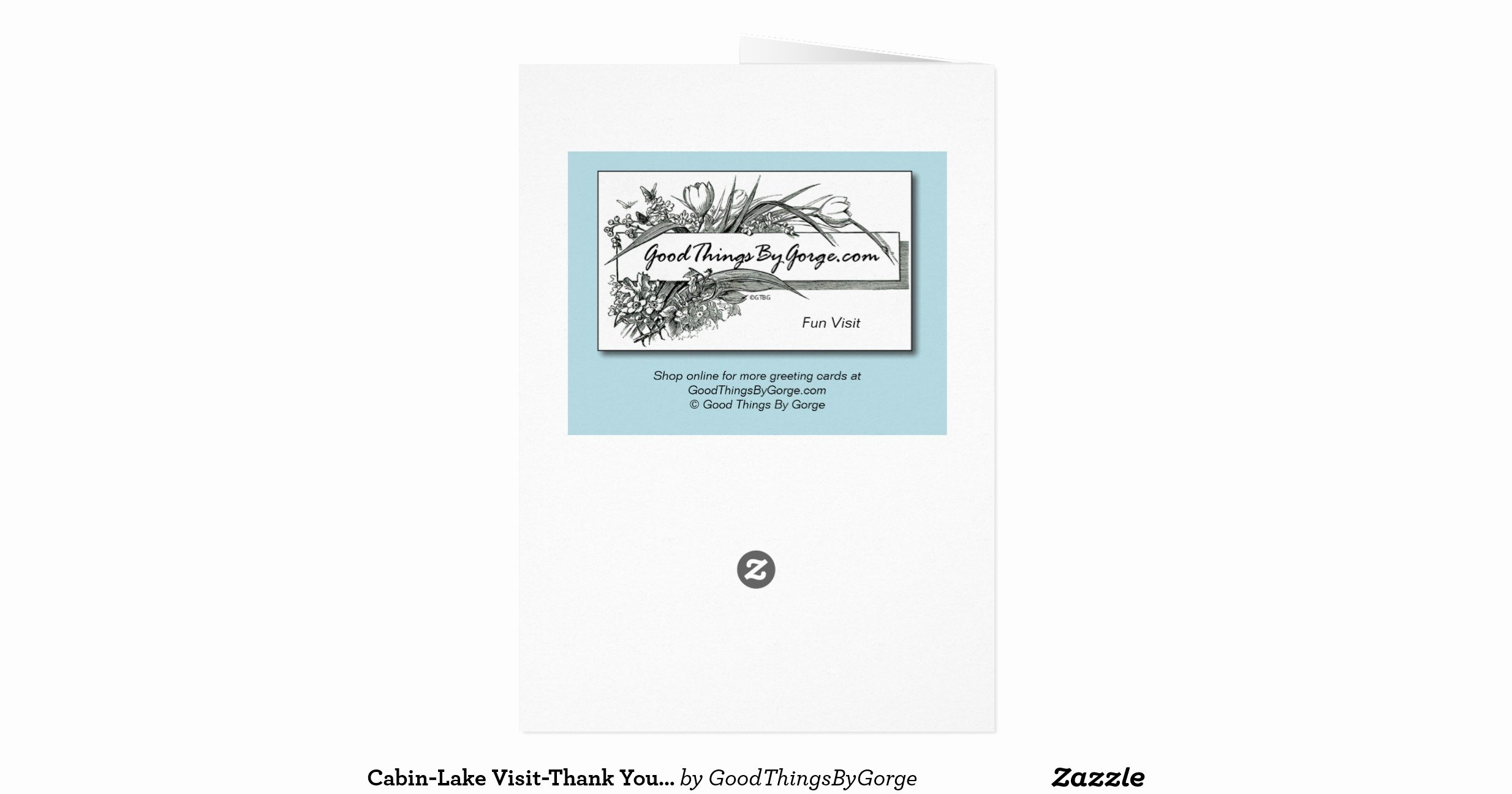 Hospitality Thank You Notes Unique Cabin Lake Visit Thank You for Hospitality Stationery Note