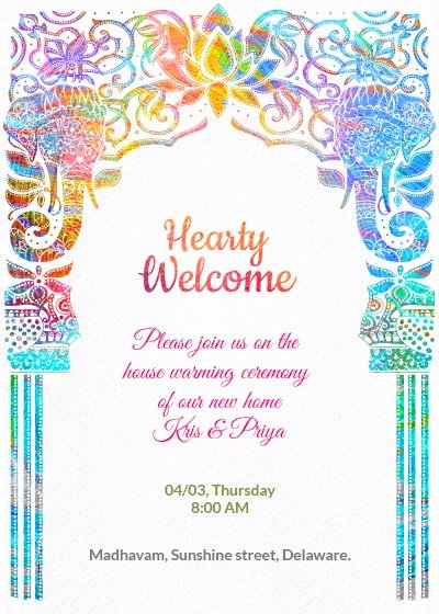 House Warming Ceremony Invitation Awesome House Warming Ceremony Invitation