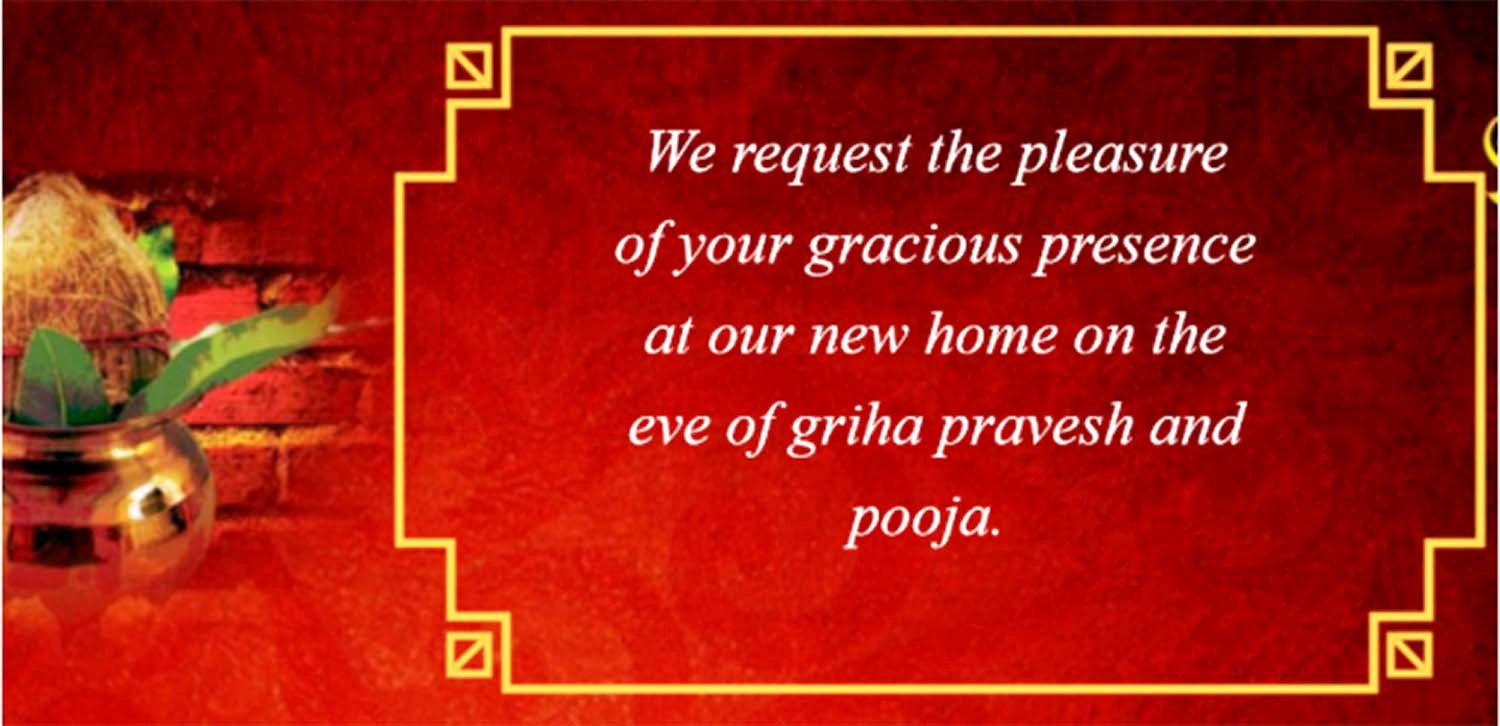 House Warming Ceremony Invitation Elegant [griha Pravesh Invitation] Indian House Warming Ceremony