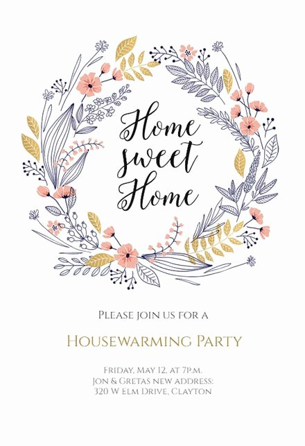 House Warming Ceremony Invitation Elegant Housewarming Invitation Templates Free