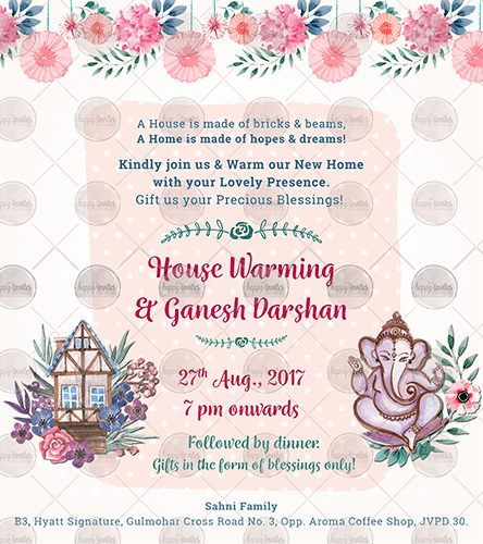 House Warming Ceremony Invitation Elegant Oe01 House Warming Ceremony Invite Invitation Video