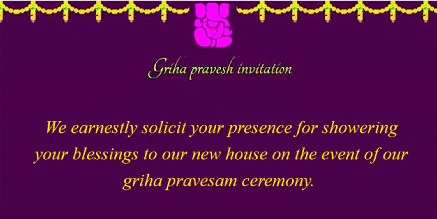 House Warming Ceremony Invitation Lovely [griha Pravesh Invitation] Indian House Warming Ceremony