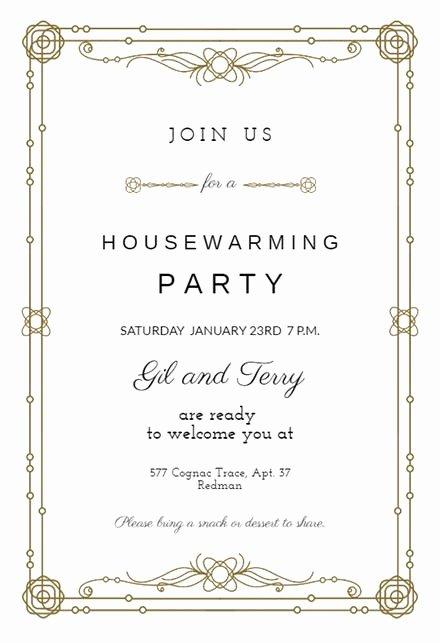 House Warming Ceremony Invitation Lovely Housewarming Invitation Templates Free