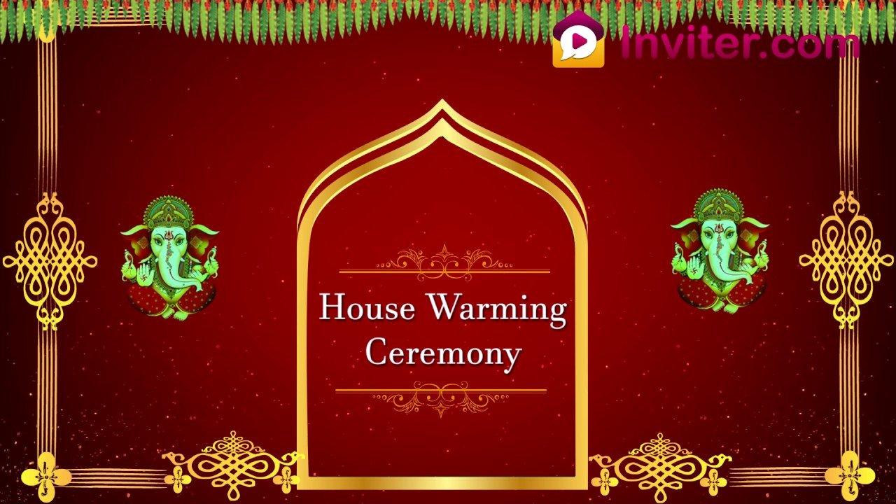 House Warming Ceremony Invitation Luxury Latest House Warming Ceremony Video Invitation 2019