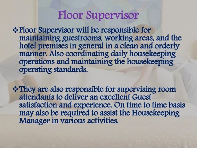 Housekeeping Supervisors Duties and Responsibilities Inspirational Job Description
