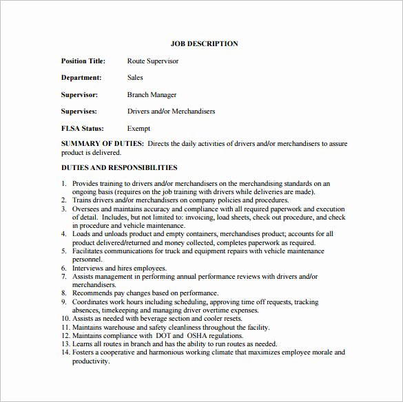 Housekeeping Supervisors Duties and Responsibilities New 10 Supervisor Job Description Templates – Free Sample