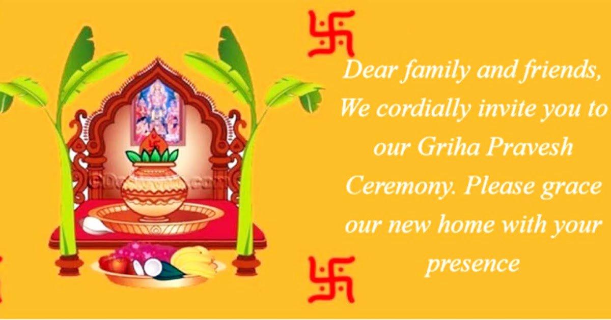 Housewarming Images for Invitation Elegant [griha Pravesh Invitation] Indian House Warming Ceremony