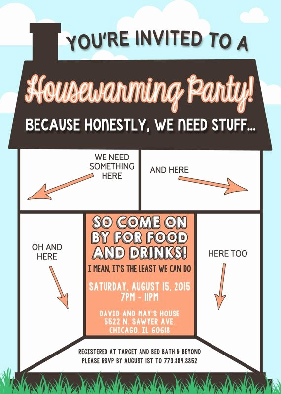 Housewarming Invitation Wording Funny Fresh Funny Housewarming Invitation by Lilygramdesigns On Etsy