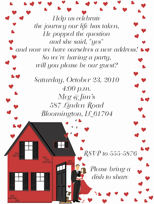 Housewarming Invitation Wording Funny Inspirational Housewarming Engagement Party Invitation