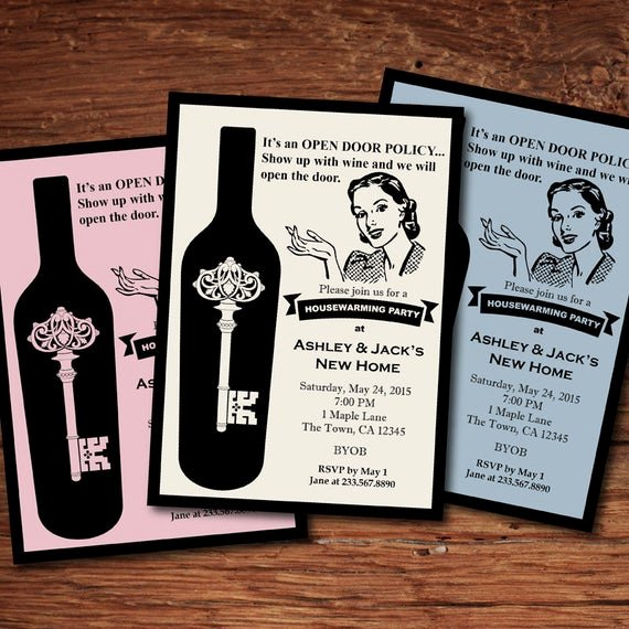 Housewarming Invitation Wording Funny Inspirational Retro Housewarming Invitation Fun Stock the Bar Housewarming
