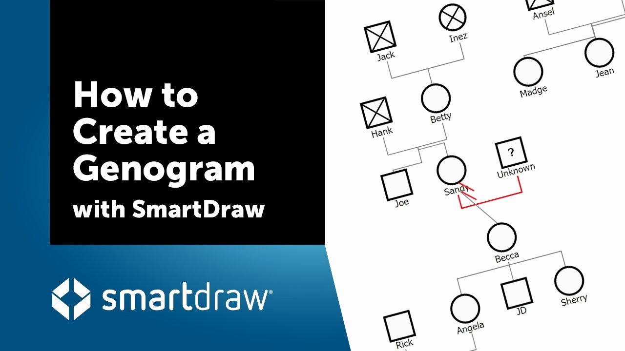 How to Create A Genogram New How to Create A Genogram with Smartdraw