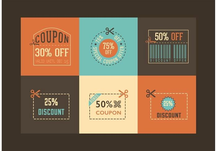 How to Design A Coupon Inspirational Free Retro Coupon Designs Vector Download Free Vector
