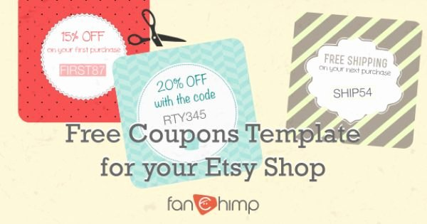 How to Design A Coupon Inspirational How to Create Coupon Codes On Etsy 22 Coupon Templates