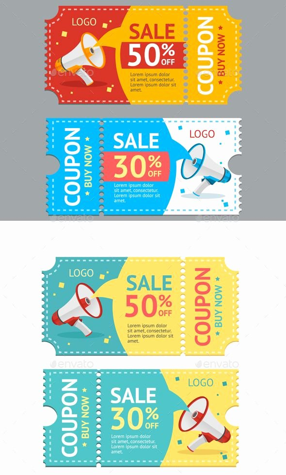 How to Design A Coupon Unique Coupon Sale Vector