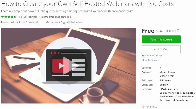 How to Design A Coupon Unique Udemy Coupon – How to Create Your Own Self Hosted Webinars
