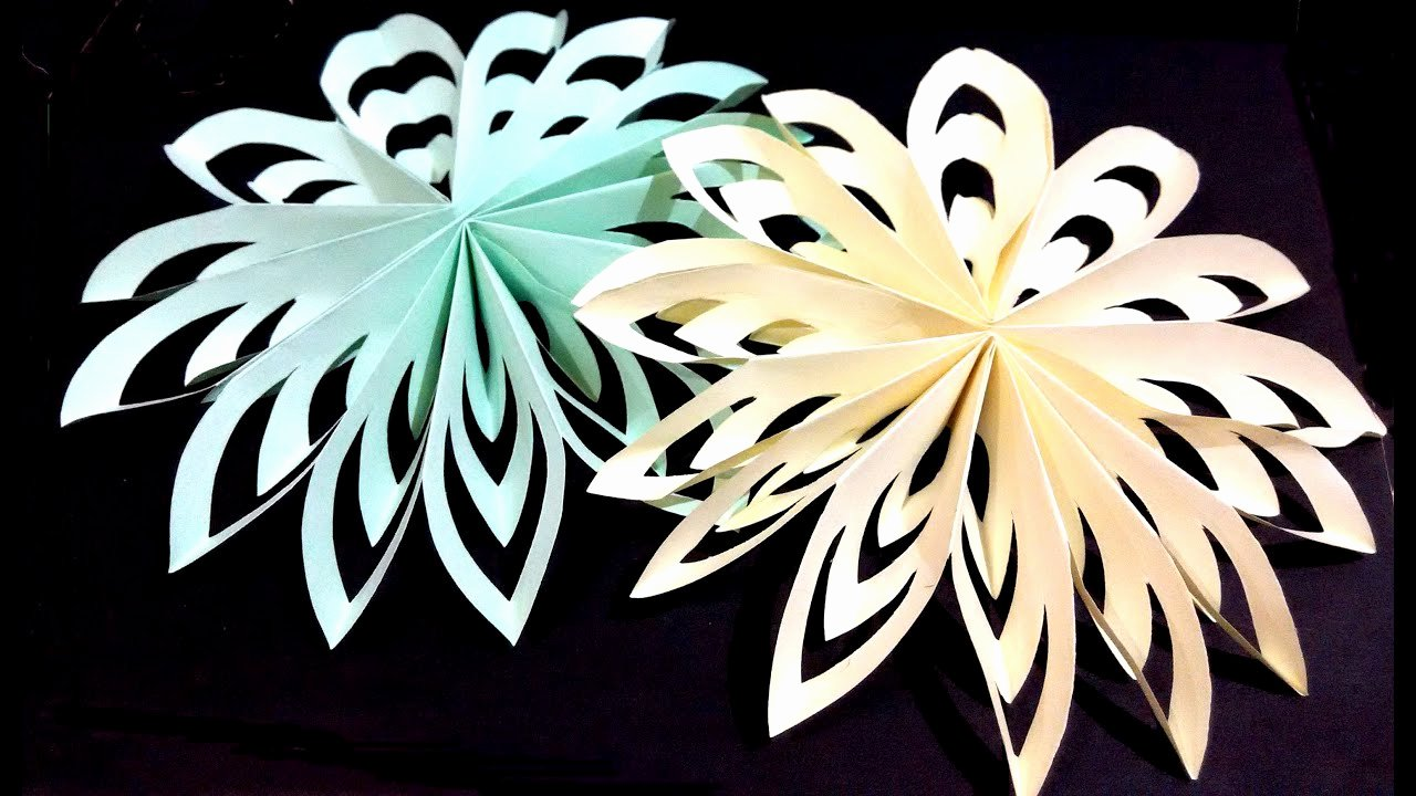 How to Make 3d Snowflakes Inspirational Christmas Paper Snowflake Very Easy and Rich