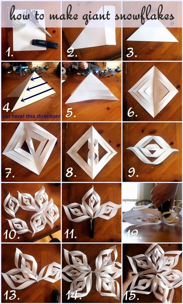 How to Make 3d Snowflakes Inspirational How to Make Giant Paper Snowflakes Step by Step