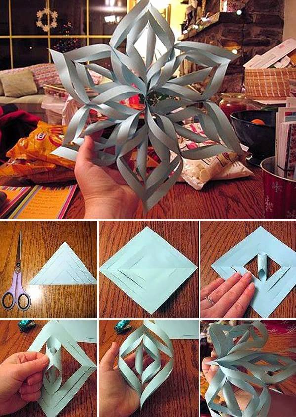 How to Make 3d Snowflakes Luxury Wonderful Diy Paper Snowflakes with Pattern