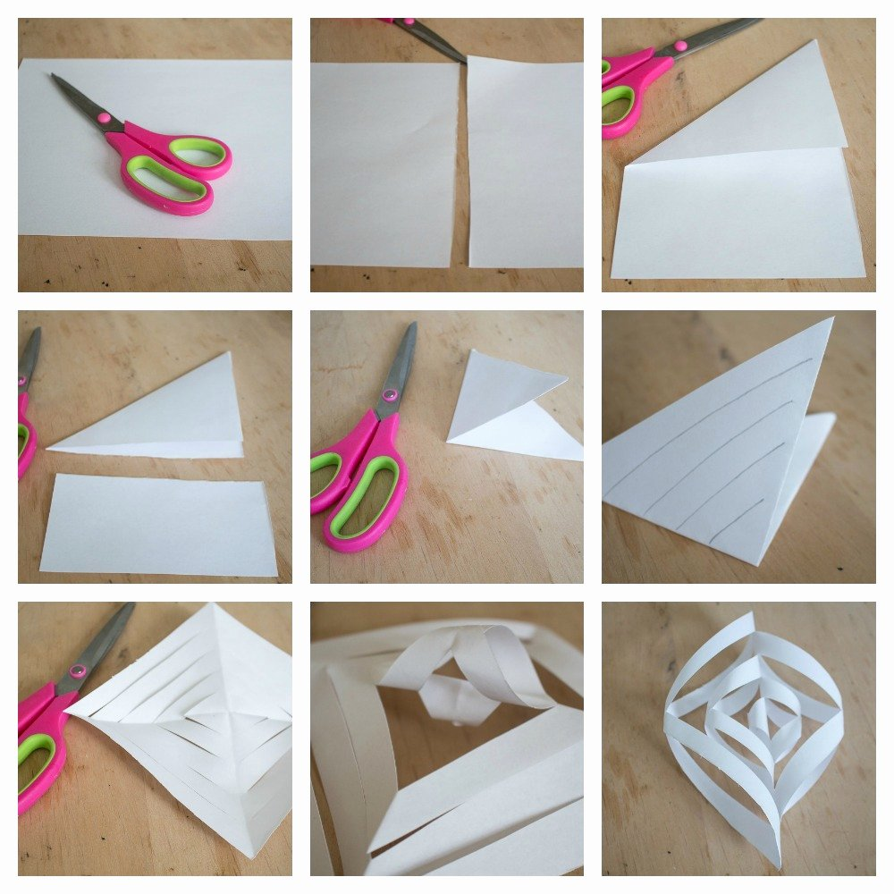 How to Make 3d Snowflakes Unique Easy to Make 3d Paper Snowflakes