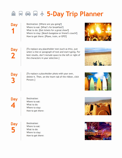 How to Make An Itenary Awesome Trip Itinerary Template Free Download Edit Fill Create