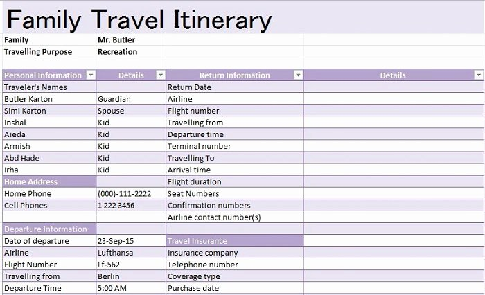 How to Make An Itenary Best Of 30 Itinerary Templates Travel Vacation Trip Flight