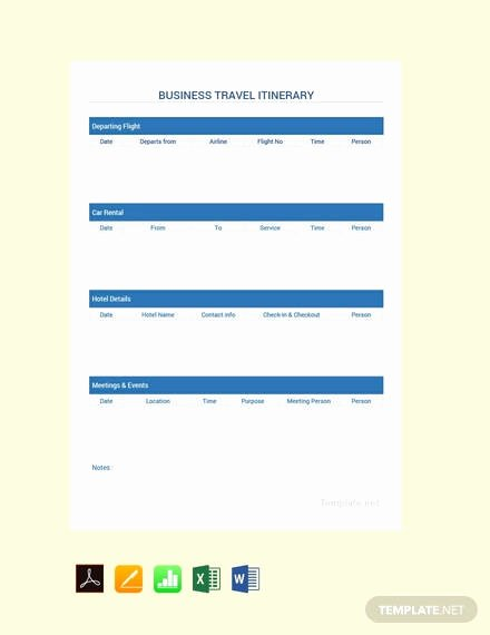 How to Make An Itenary Elegant 15 Itinerary Templates In Google Docs