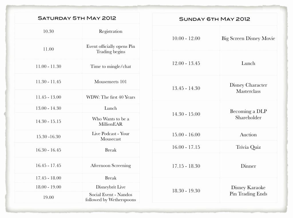 mousemeets 2012 announce event itinerary