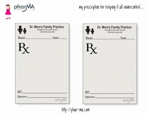 how to write a fake prescription