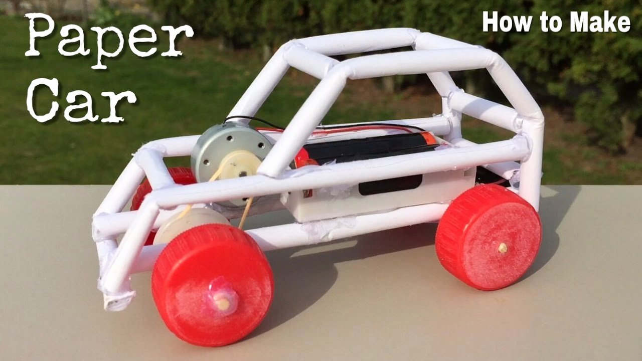 How to Make Paper Car Beautiful How to Make A Paper Car Electric Powered Car Easy to