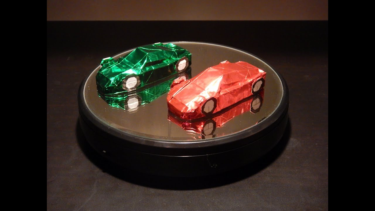 How to Make Paper Car Elegant 【origami 9】 Sports Car [by Ryo Aoki]