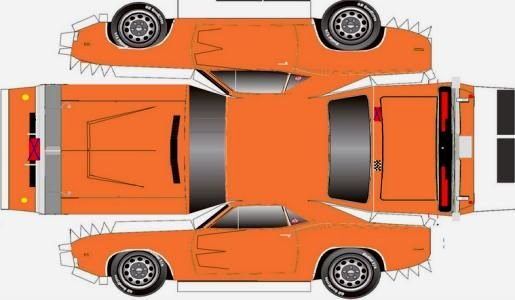 How to Make Paper Car Fresh Papermau Easy to Build 1969 S Dodge Charger Paper Model