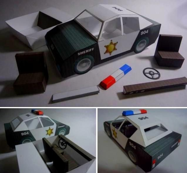 How to Make Paper Car New Papermau Classic Police Car Paper Model by Papermau