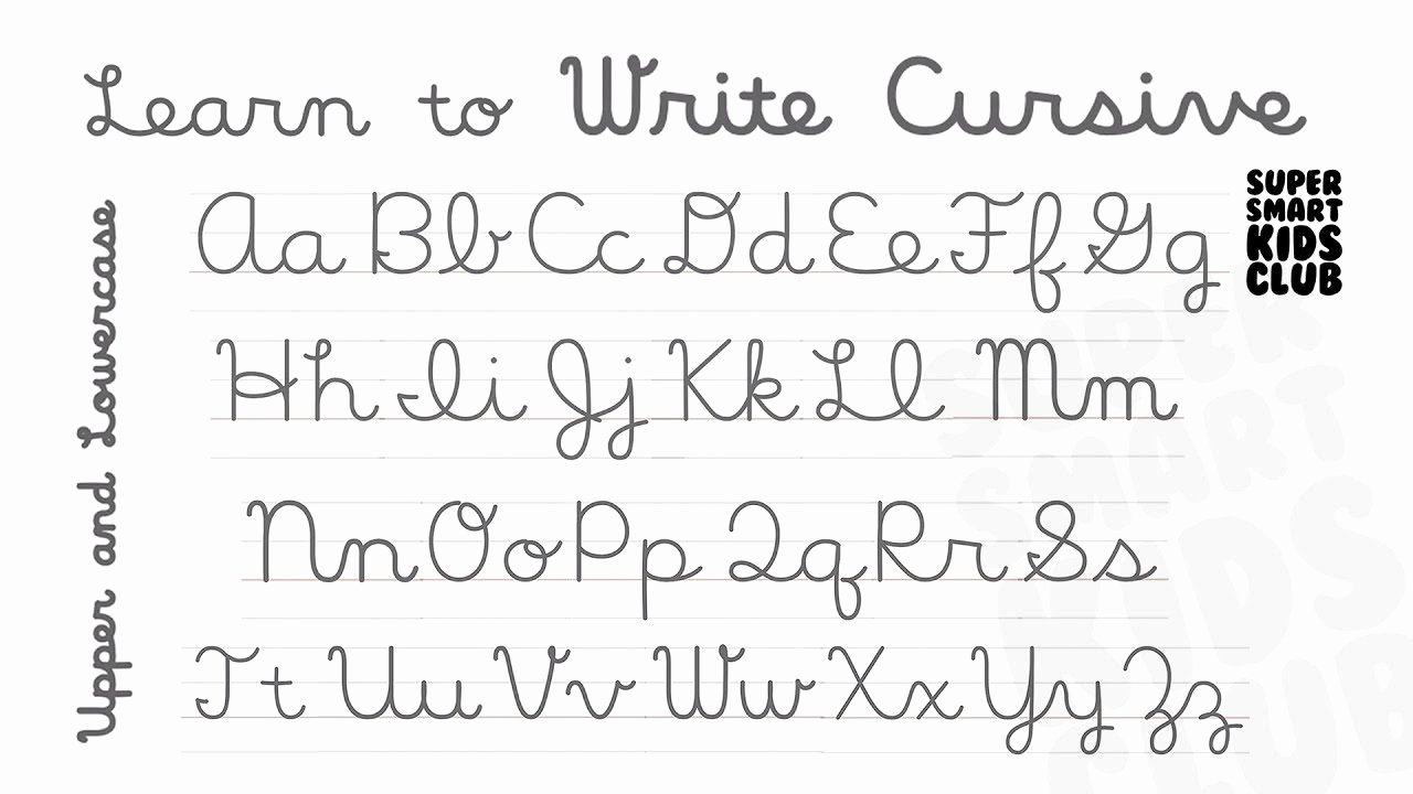 How to Write Cursive Words Lovely Cursive Letters Lowercase and Capital