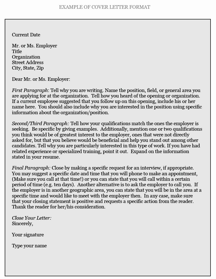 How to Write Employment Letter New How to Write Cover Letters