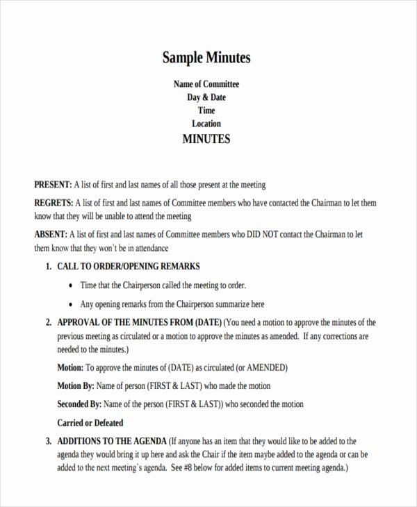 How to Write Minutes Elegant Free 10 Minutes Writing Examples & Samples In Pdf