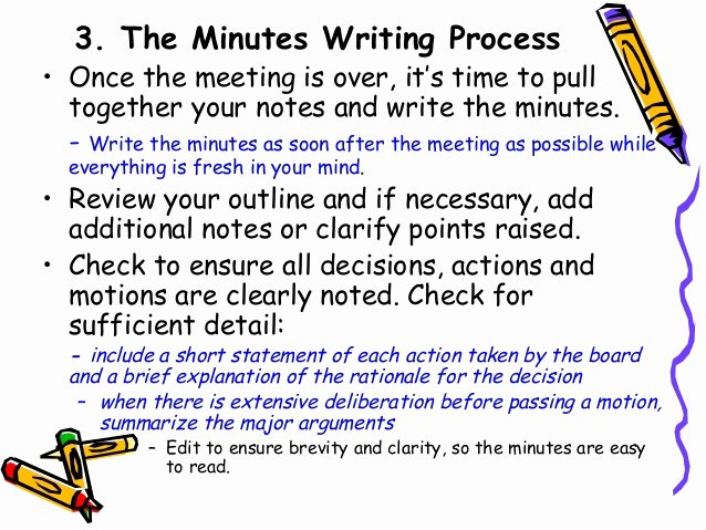 How to Write Minutes Fresh How to Write Effective Meeting Minutes