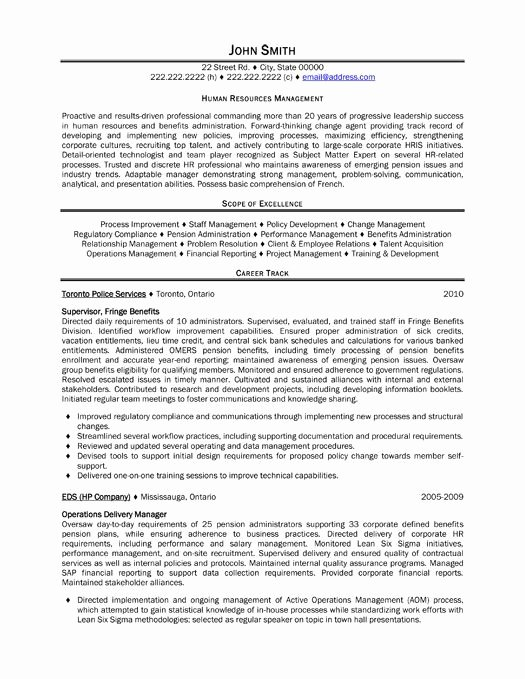 Hr Executive Resume Sample Beautiful 15 Best Images About Human Resources Hr Resume Templates