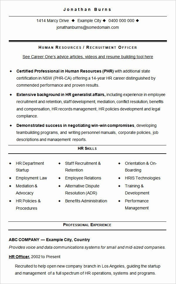 Hr Executive Resume Sample Inspirational 21 Best Hr Resume Templates for Freshers & Experienced