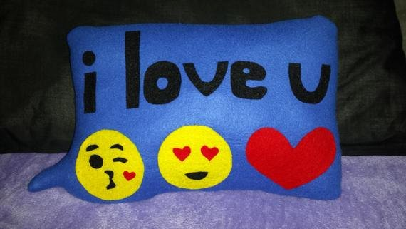 I Love You Emoji Text Best Of Text Emoji I Love U Pillow