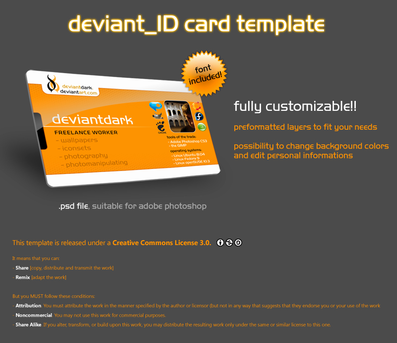 Id Card Templates Awesome Id Card Template
