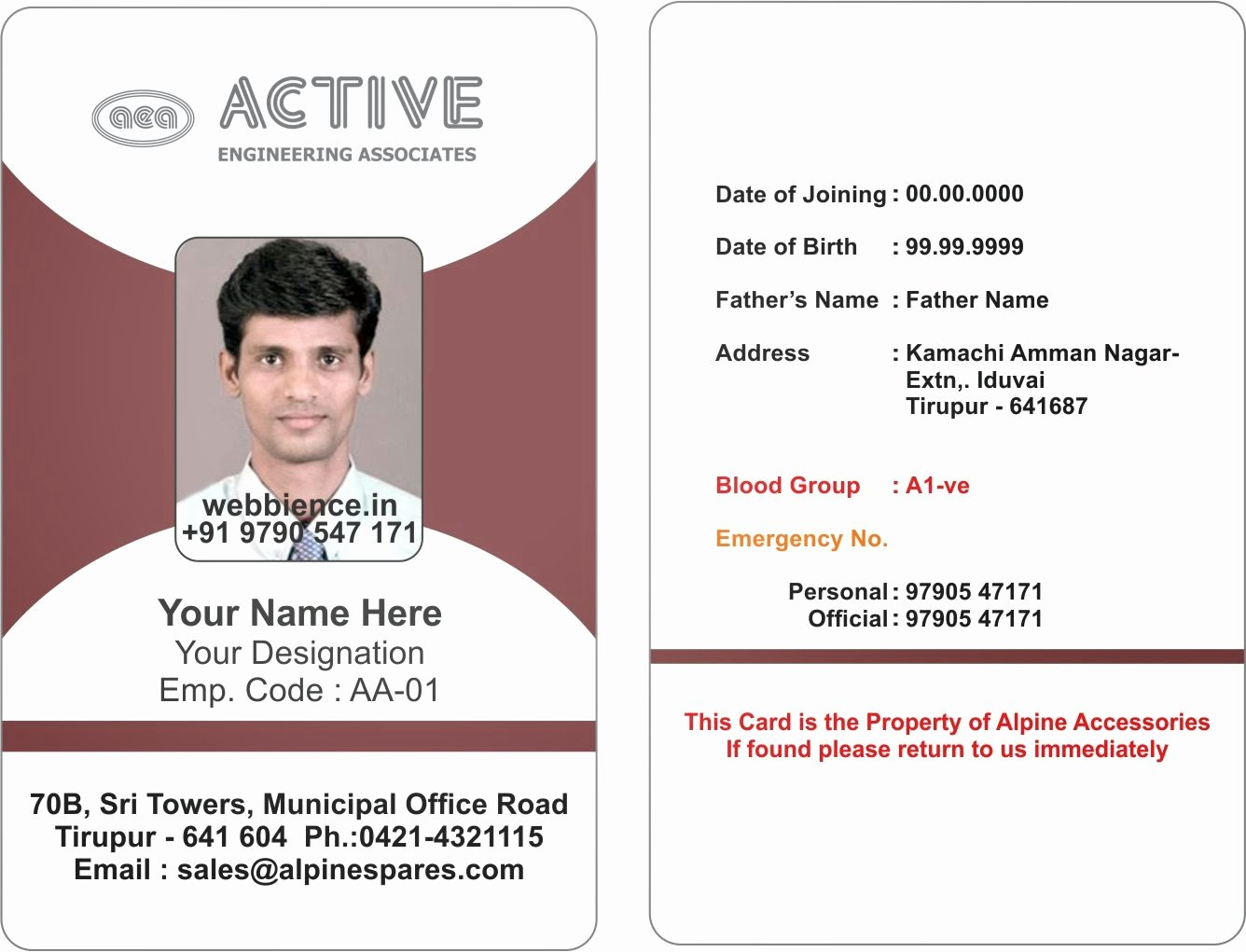 Id Card Templates Awesome Template Galleries Employee Id Card Templatres New
