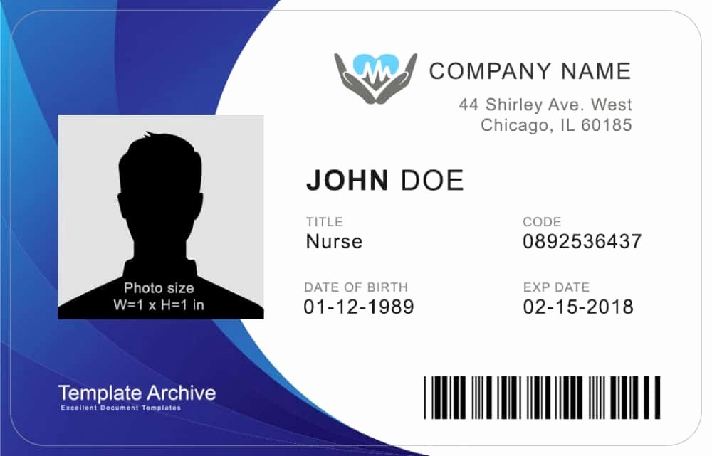 Id Card Templates Elegant 16 Id Badge & Id Card Templates Free Template Archive