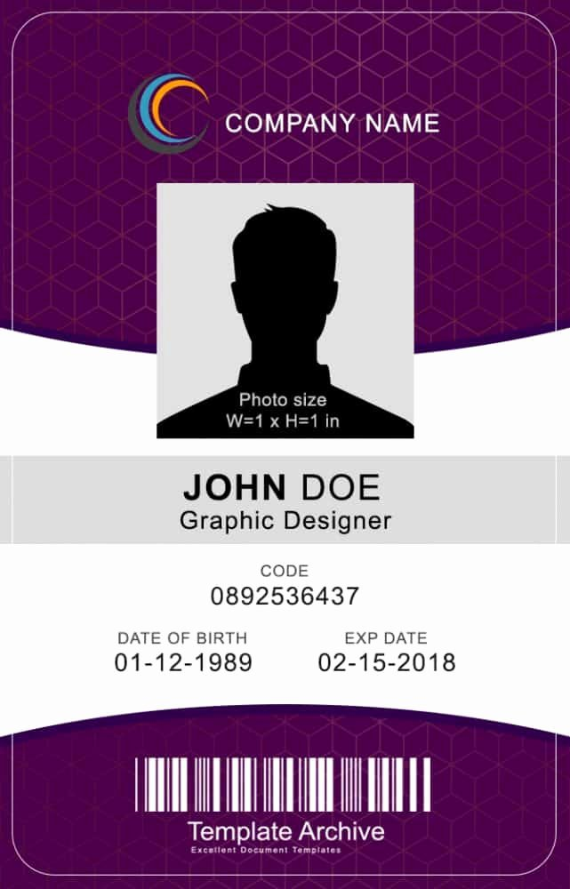 Id Card Templates Fresh 16 Id Badge & Id Card Templates Free Template Archive