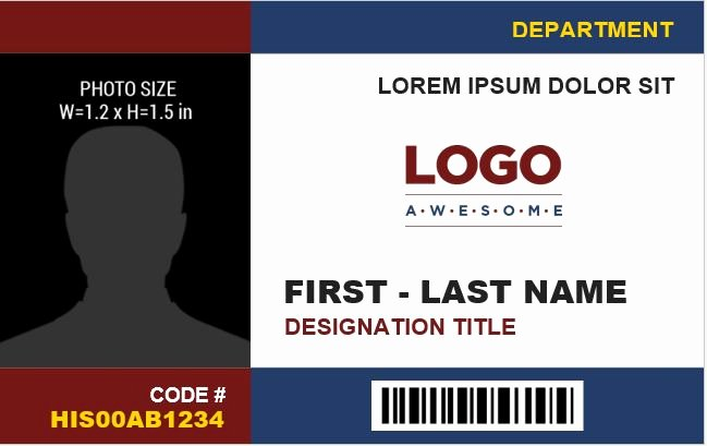 Id Card Templates Fresh Employee Identification Card Templates Ms Word