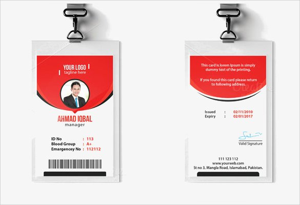 Id Card Templates Fresh Id Card Template 19 Download In Psd Pdf Word