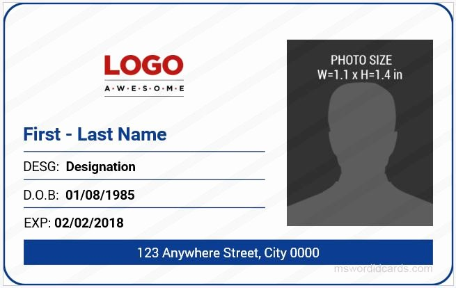 Id Card Templates Lovely 5 Best Fice Id Card Templates Ms Word